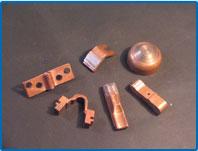элементы низкоольтной аппаратуры (серебро + медь, керрит + медь)